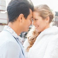 White and Pastel Blue London Wedding by Maxeen Kim Photography